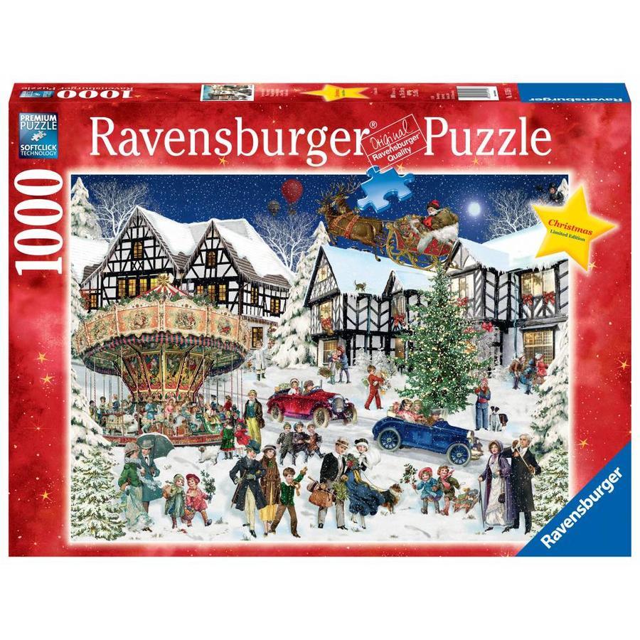 snowy village 1000 pieces 1 - Ravensburger Christmas Puzzles