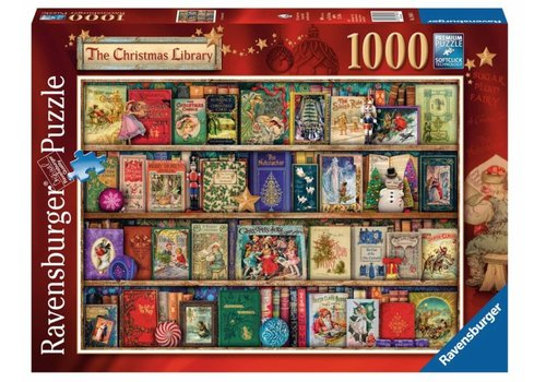 The Christmas Library - 1000 pieces