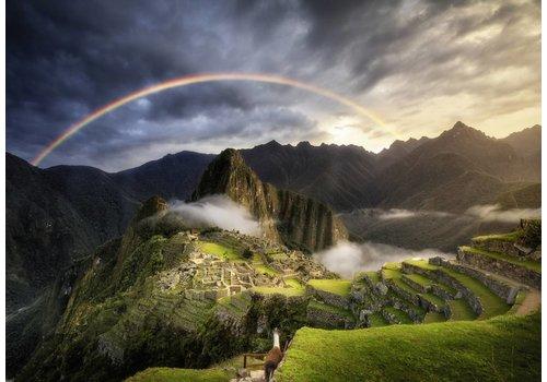 Regenboog boven Machu Picchu- 1000 stukjes