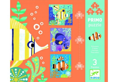 Eerste puzzels - Vissen - 9, 12 en 16 stukjes