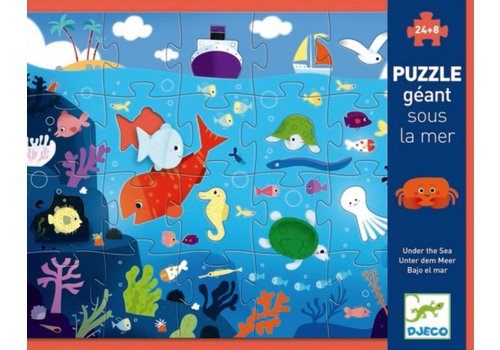 Under the sea - puzzle 24 pieces + 8 shapes