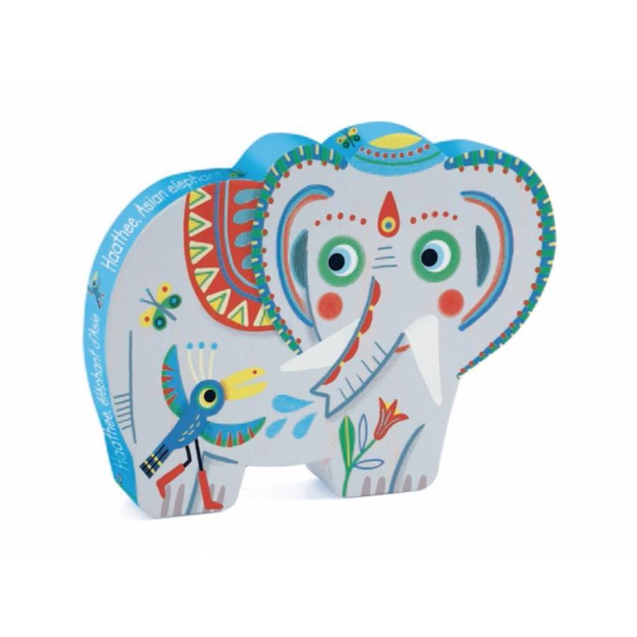 De Aziatische olifant - 24 stukjes-1