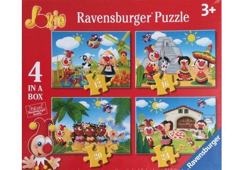 Ravensburger Travel around the world with Jokie - 12+16 +20 +24 pieces