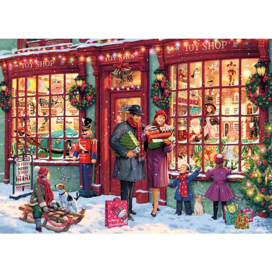 De speelgoedwinkel in kerstsfeer - 1000 stukjes-1