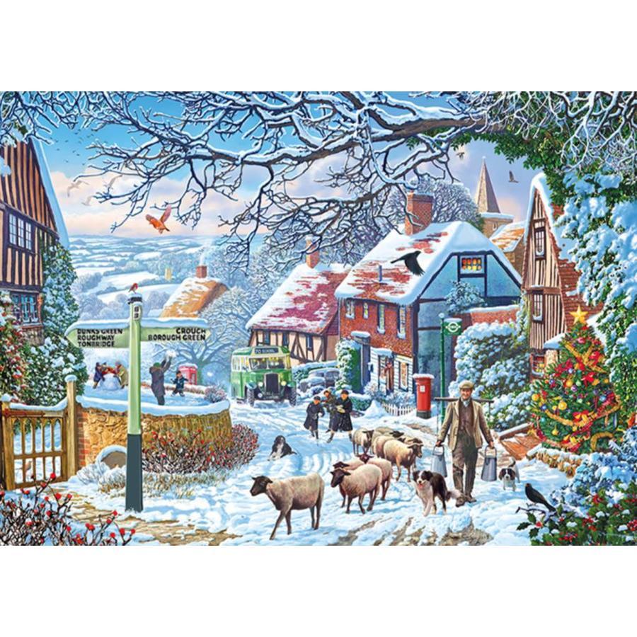 De winterwandeling - puzzel van 1000 stukjes-1