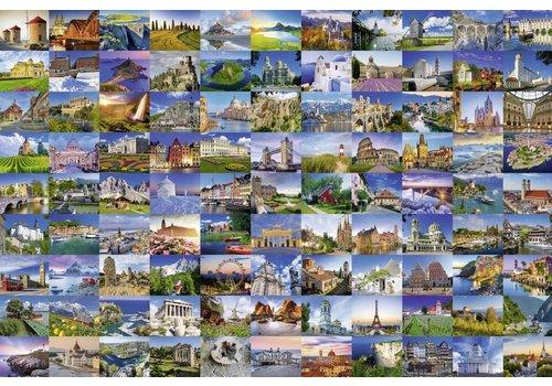 99 mooie plekken in Europa - 3000 stukjes