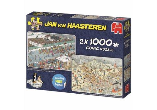 Elfstedentocht / Nieuwjaarsduik - JvH - 2x1000 stukjes