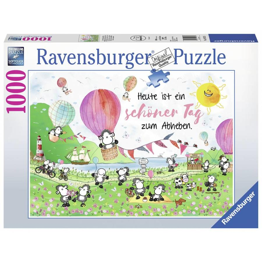 Time to get up sheep! - puzzle of 1000 pieces-2
