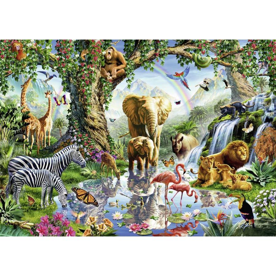 Avonturen in de jungle - puzzel van  1000 stukjes-1