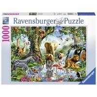 thumb-Avonturen in de jungle - puzzel van  1000 stukjes-2