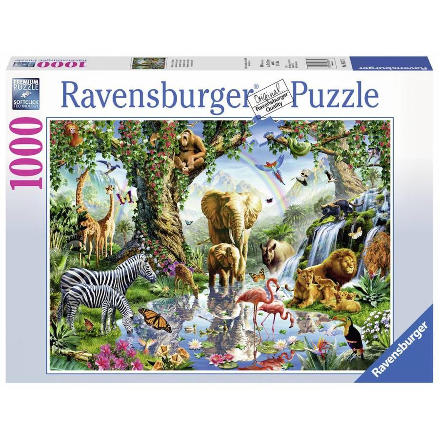 Avonturen in de jungle - puzzel van  1000 stukjes-2