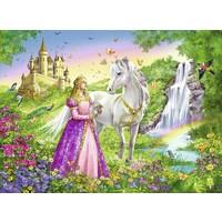 thumb-Prinses met paard - puzzel van 200 stukjes-1