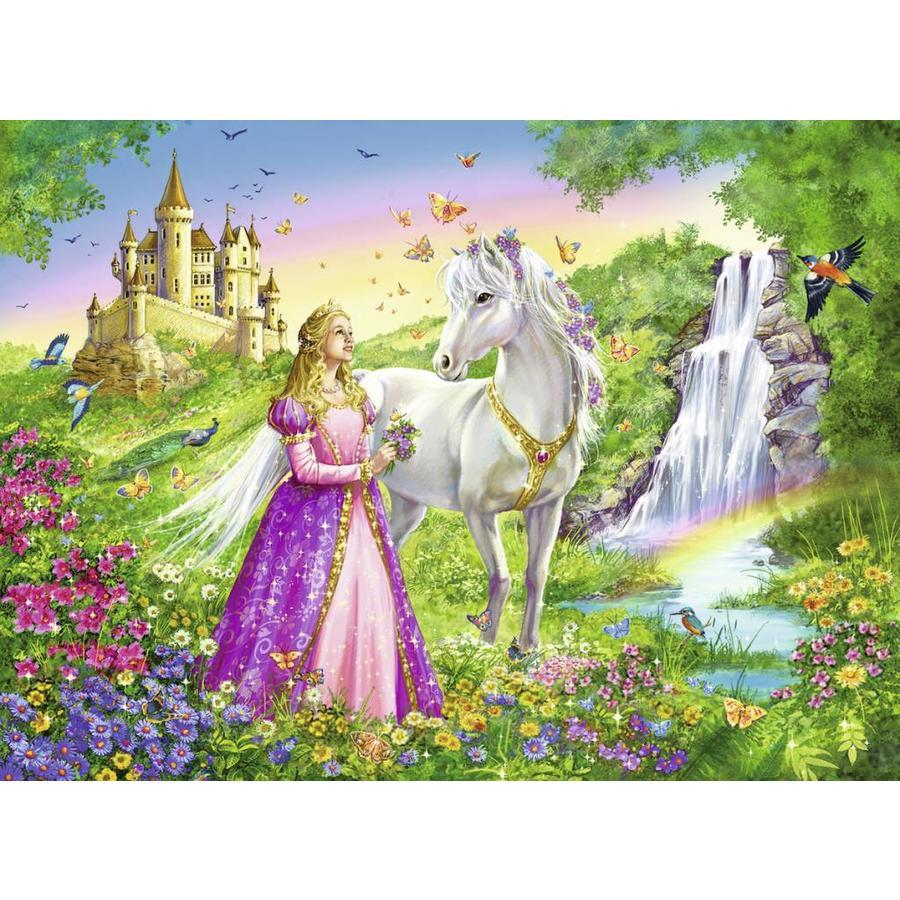 Prinses met paard - puzzel van 200 stukjes-1