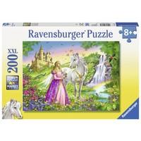 thumb-Prinses met paard - puzzel van 200 stukjes-2