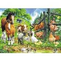 thumb-Dierenbijeenkomst - puzzel van 100 stukjes-1