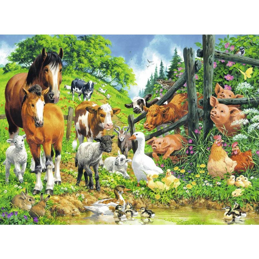 Dierenbijeenkomst - puzzel van 100 stukjes-1