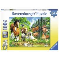 thumb-Dierenbijeenkomst - puzzel van 100 stukjes-2