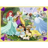 thumb-Prinsessen in de tuin  - puzzel van 100 stukjes-1