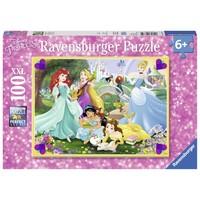 thumb-Prinsessen in de tuin  - puzzel van 100 stukjes-2