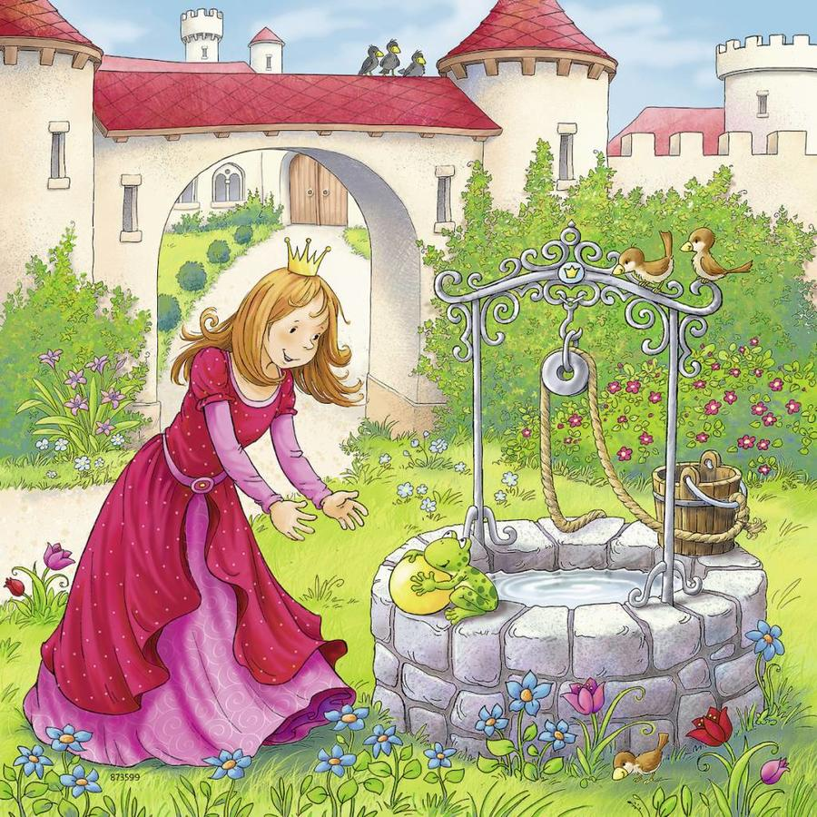 Little Red Riding Hood and others - 3 puzzles of 49 pieces-2