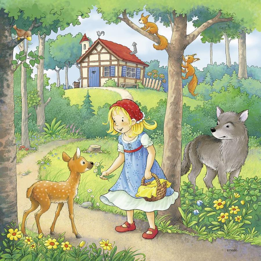 Little Red Riding Hood and others - 3 puzzles of 49 pieces-4