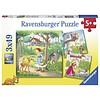 Ravensburger Roodkapje en andere - 3 puzzels van 49 stukjes