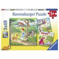 thumb-Roodkapje en andere - 3 puzzels van 49 stukjes-1