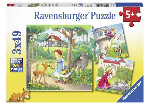 Ravensburger Little Red Riding Hood and others - 3 x 49 pieces