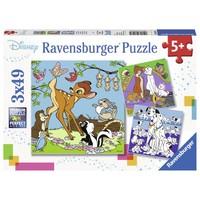 thumb-Disney Vrienden - 3 puzzels van 49 stukjes-1