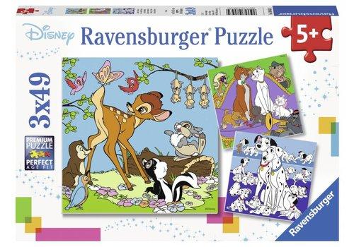 Ravensburger Disney Vrienden - 3 x 49 stukjes