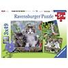Ravensburger Tijger katjes - 3 puzzels van 49 stukjes