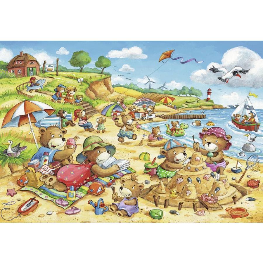 Vakantie aan zee  - 2 puzzels van 24 stukjes-2