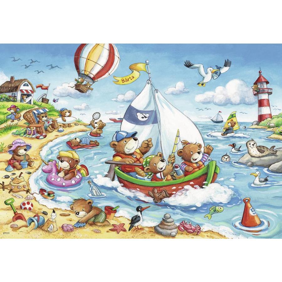 Vakantie aan zee  - 2 puzzels van 24 stukjes-3
