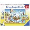 Ravensburger Vakantie aan zee  - 2 puzzels van 24 stukjes