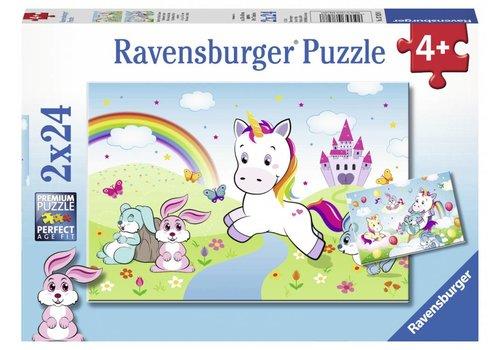 Ravensburger Sprookjesachtige eenhoorns - 2 x 24 stukjes
