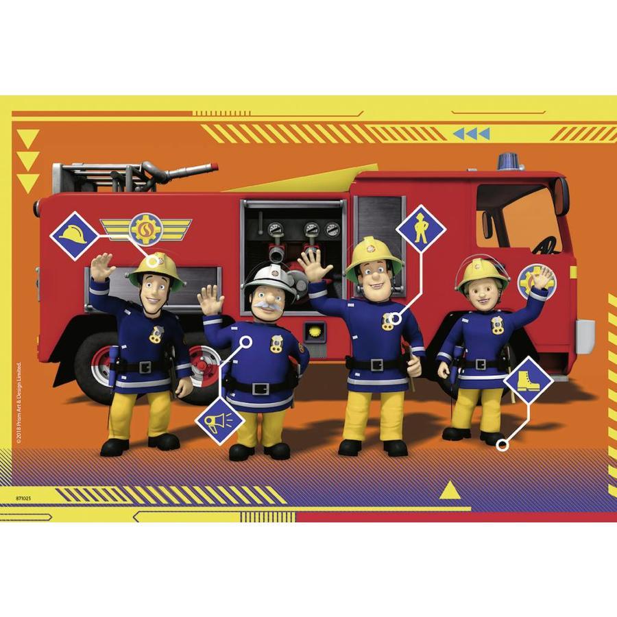 Sam de Brandweerman in actie  - 2 puzzels van 24 stukjes-2