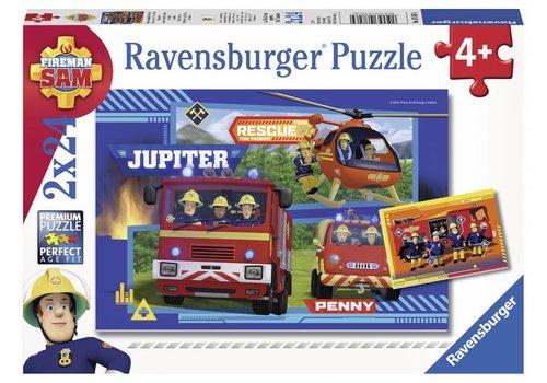 Ravensburger Sam de Brandweerman - 2 x 24 stukjes