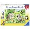 Ravensburger Koala en Panda  - 2 puzzels van 24 stukjes