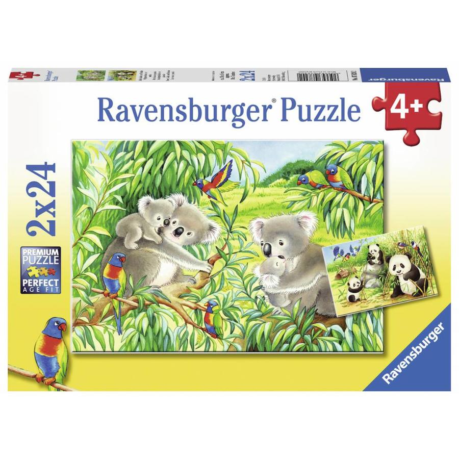 Koala en Panda  - 2 puzzels van 24 stukjes-1
