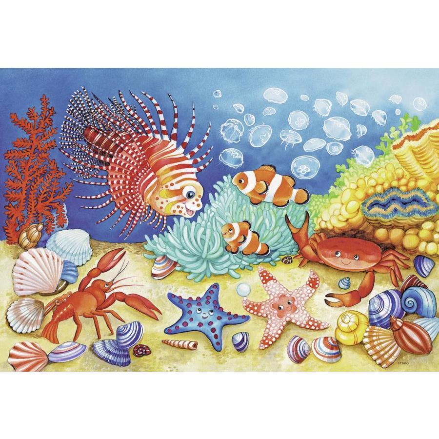 Au fond de la mer  - 2 puzzles de 12 pièces-2