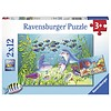 Ravensburger At the bottom of the sea - 2 puzzles of 12 pieces