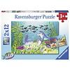 Ravensburger Op de bodem van de zee - 2 puzzels van 12 stukjes