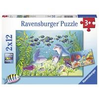 thumb-Au fond de la mer  - 2 puzzles de 12 pièces-1