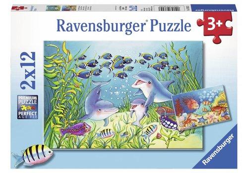 Ravensburger Op de bodem van de zee - 2 x 12 stukjes