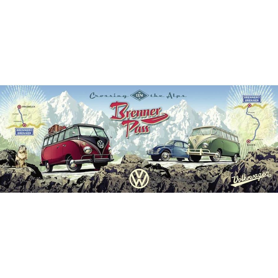Met de VW Bulli over de Brennerpas - 1000 stukjes-2