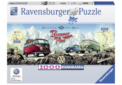 Met de VW Bulli over de Brennerpas - 1000 stukjes