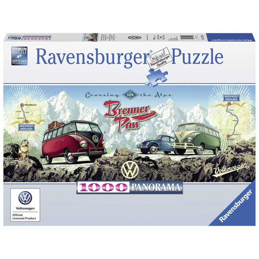 Met de VW Bulli over de Brennerpas - 1000 stukjes-1