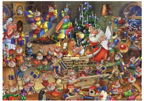 Kerstdrukte - Comic - 1000 stukjes