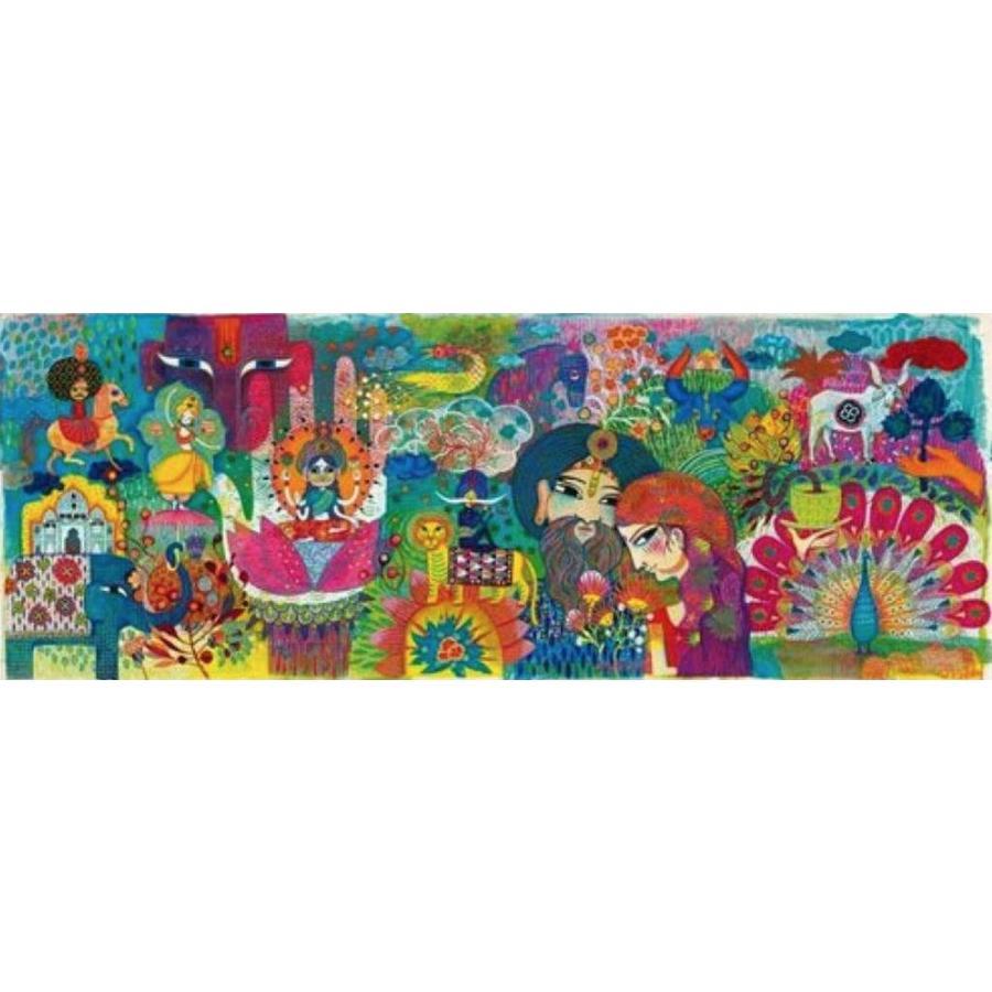 Magisch India - puzzel van 1000 stukjes - Panorama-1