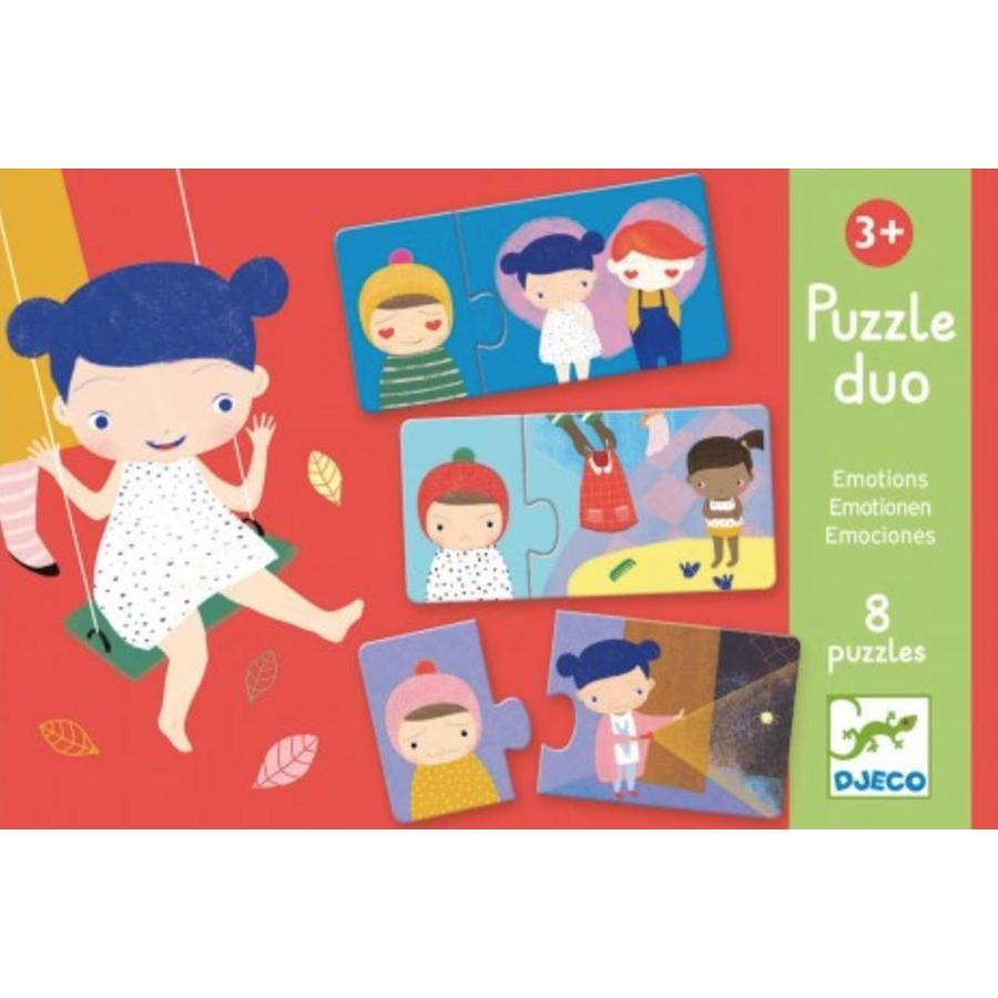 Puzzel duo - Emoties - 8 x 2 stukjes-1
